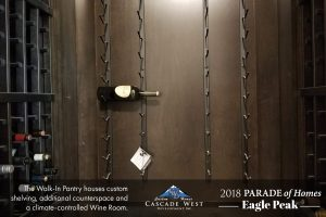 Parade of Homes 2018 : Eagle Peak : Kitchen Pantry + Wine Room : Under Construction