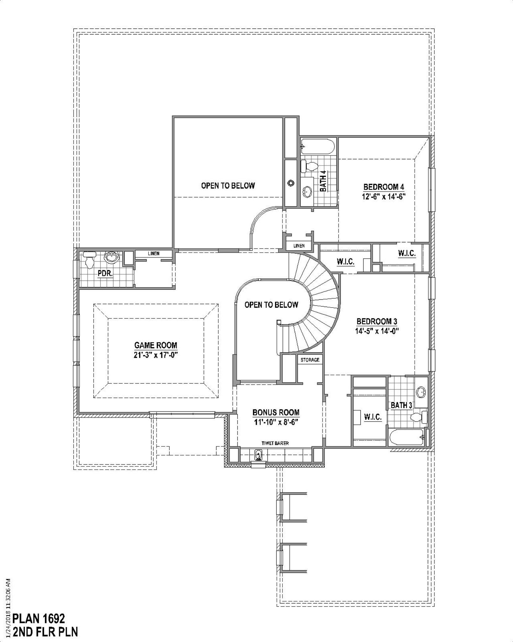 Plan 1692 Floor Plan