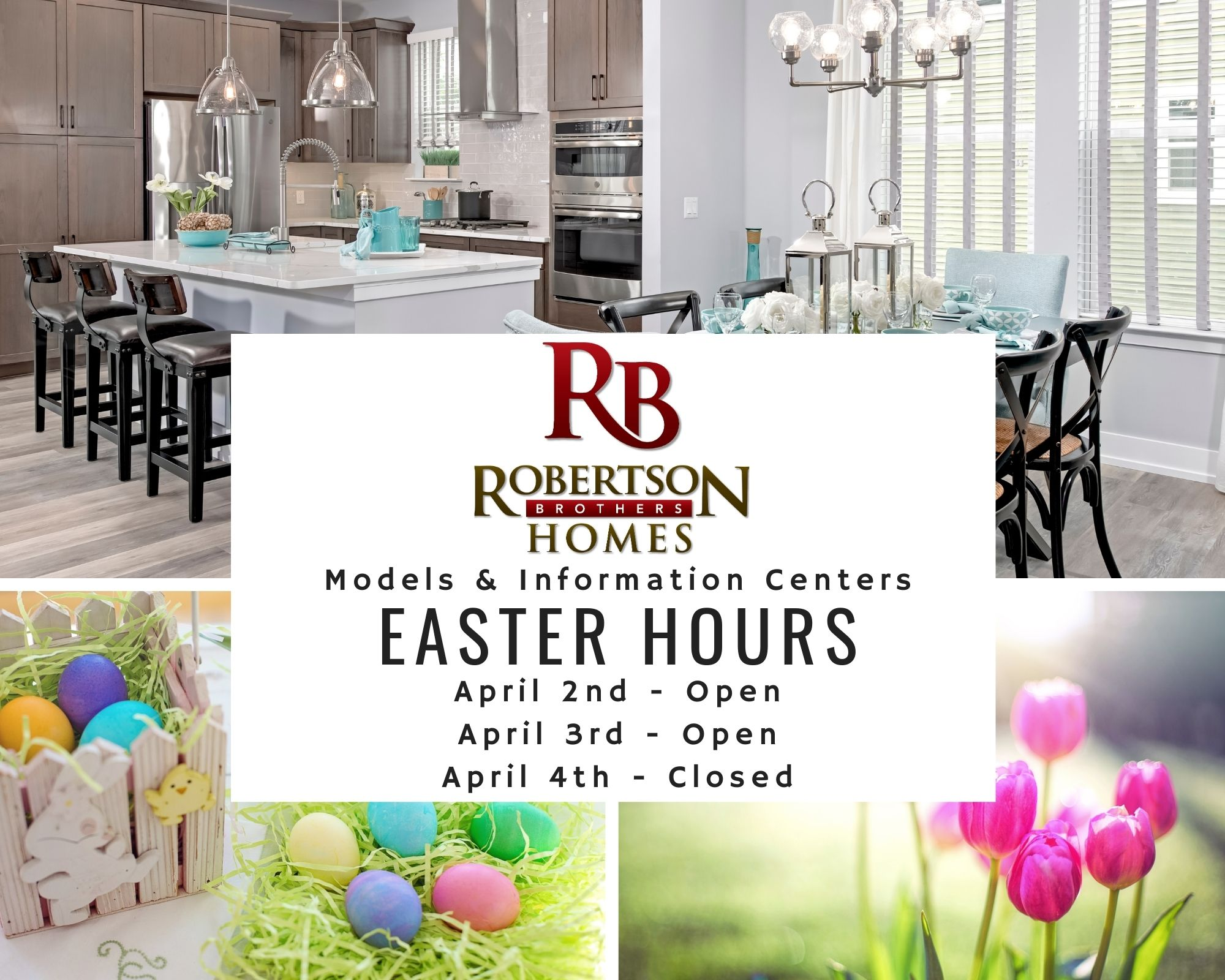 Easter hours of condo builder Robertson Homes in Michigan