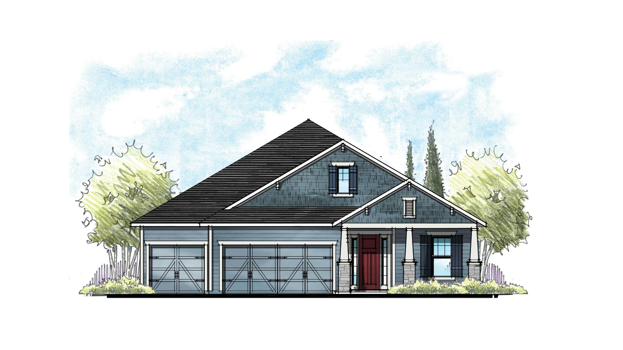 The Magnolia Southern Craftsman Elevation 6