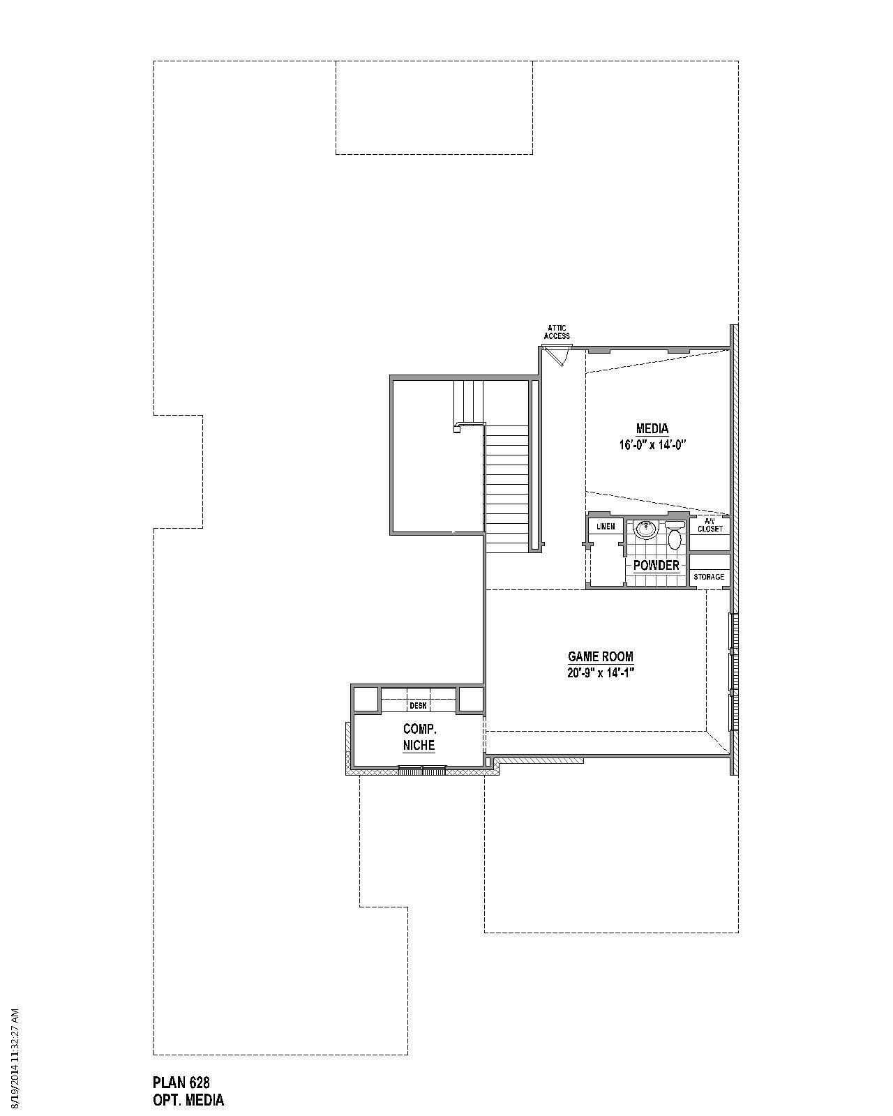 100 cul de sac floor plans home builders st louis for Cul de sac house plans