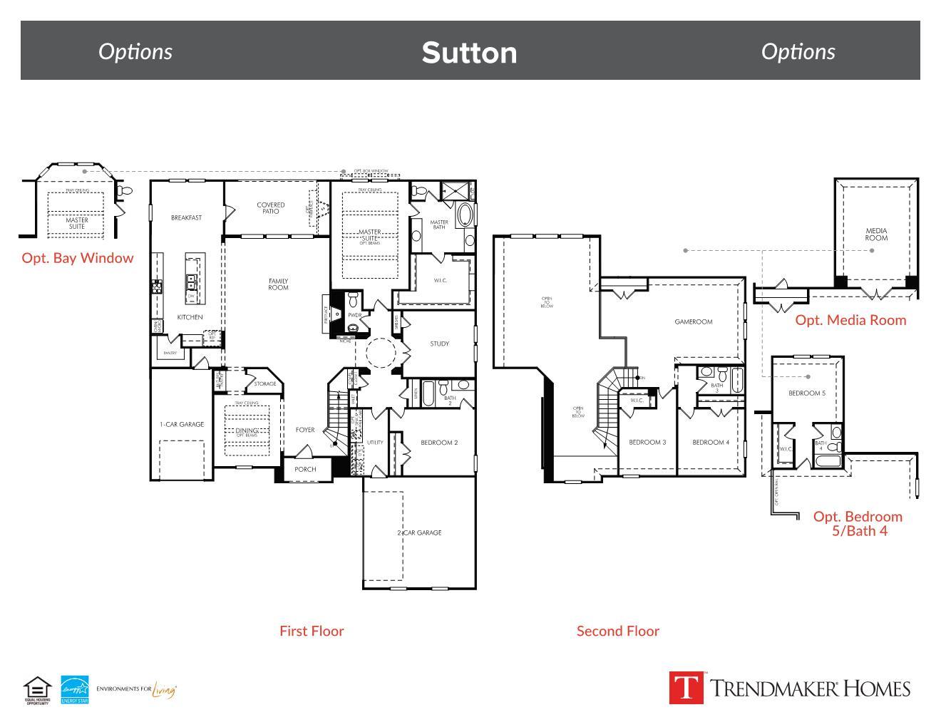 Sutton floor plan - Miramonte