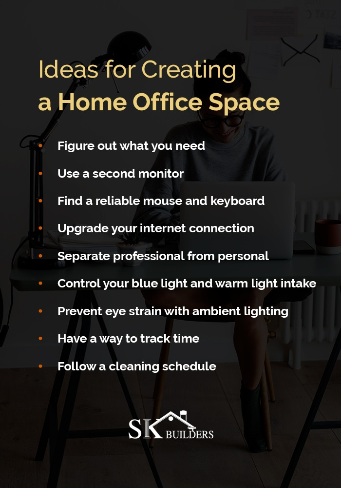 ideas for creating a home office space