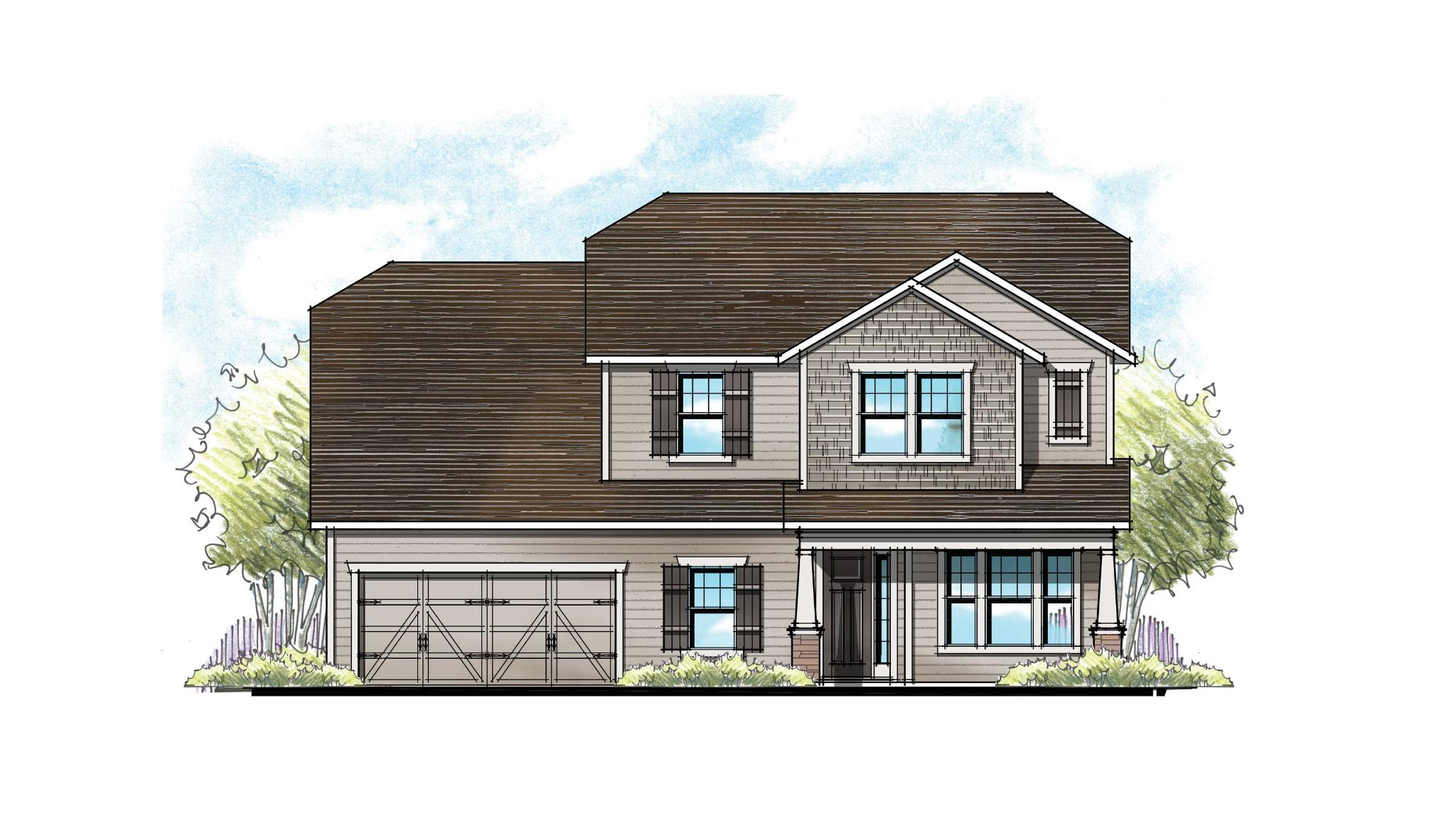 The Lafayette at Crosswater Southern Craftsman Elevation 7