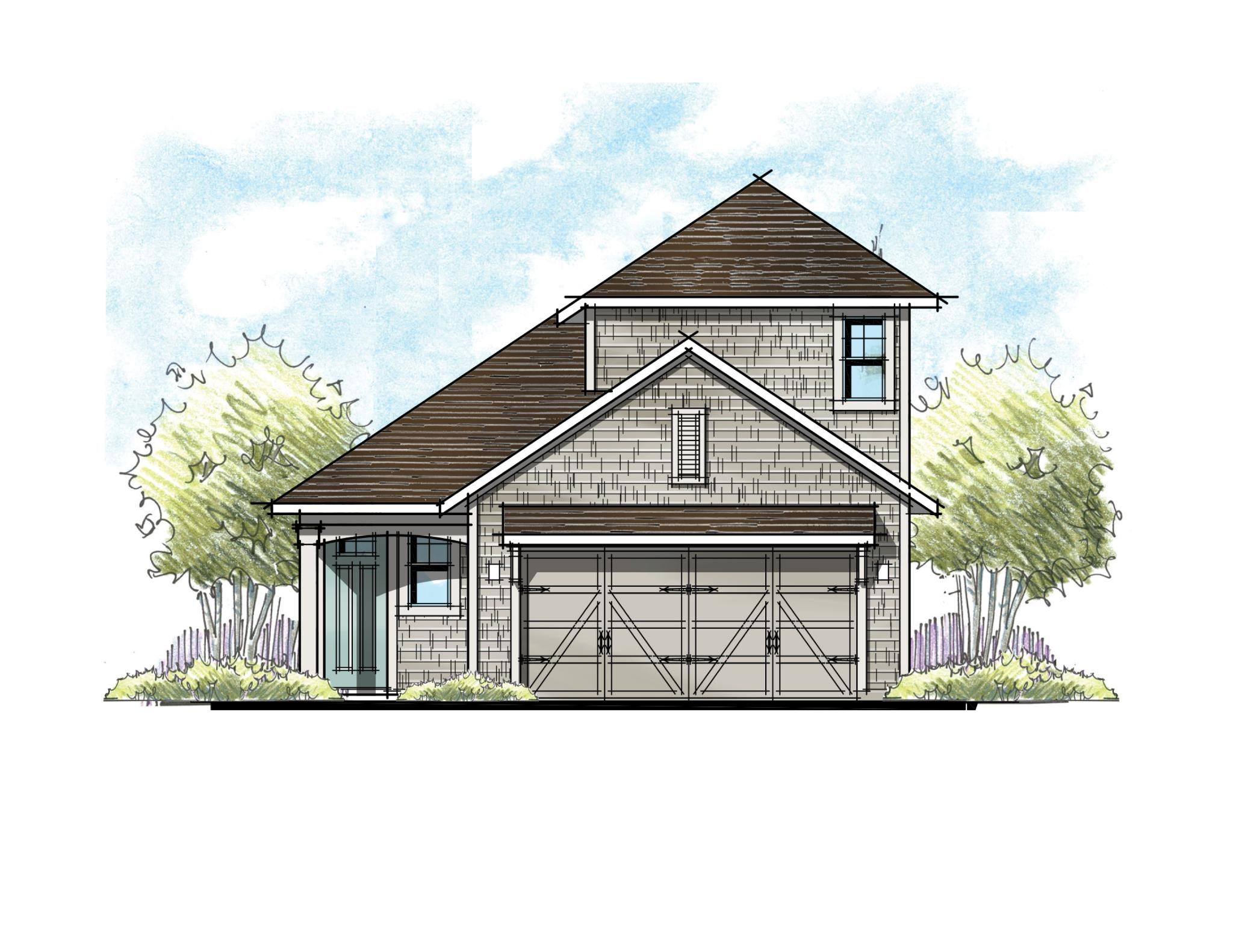 The Jackson Shingle Elevation w/ Bonus Room 6