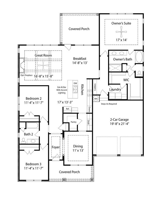 Collinsville Ii Floor Plan Nashville New Home Regent Homes