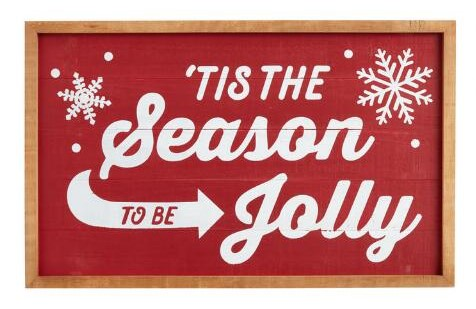 Tis the Season to be Jolly Wood Sign Christmas 2020 Decorating Trends for Your New Home