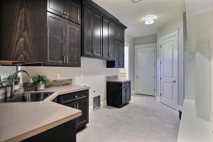 Mud Room with XL Mud Bench, Utility Sink, Washer, Dryer, Closet, and Custom Storage Alternate View