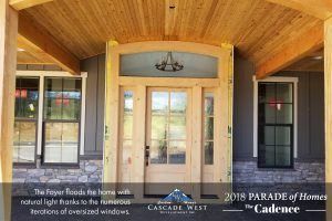 The Covered Front Entry with Barrel Vaulted Tongue and Groove Ceilings Reveals the Open Concept Foyer on the Interior.