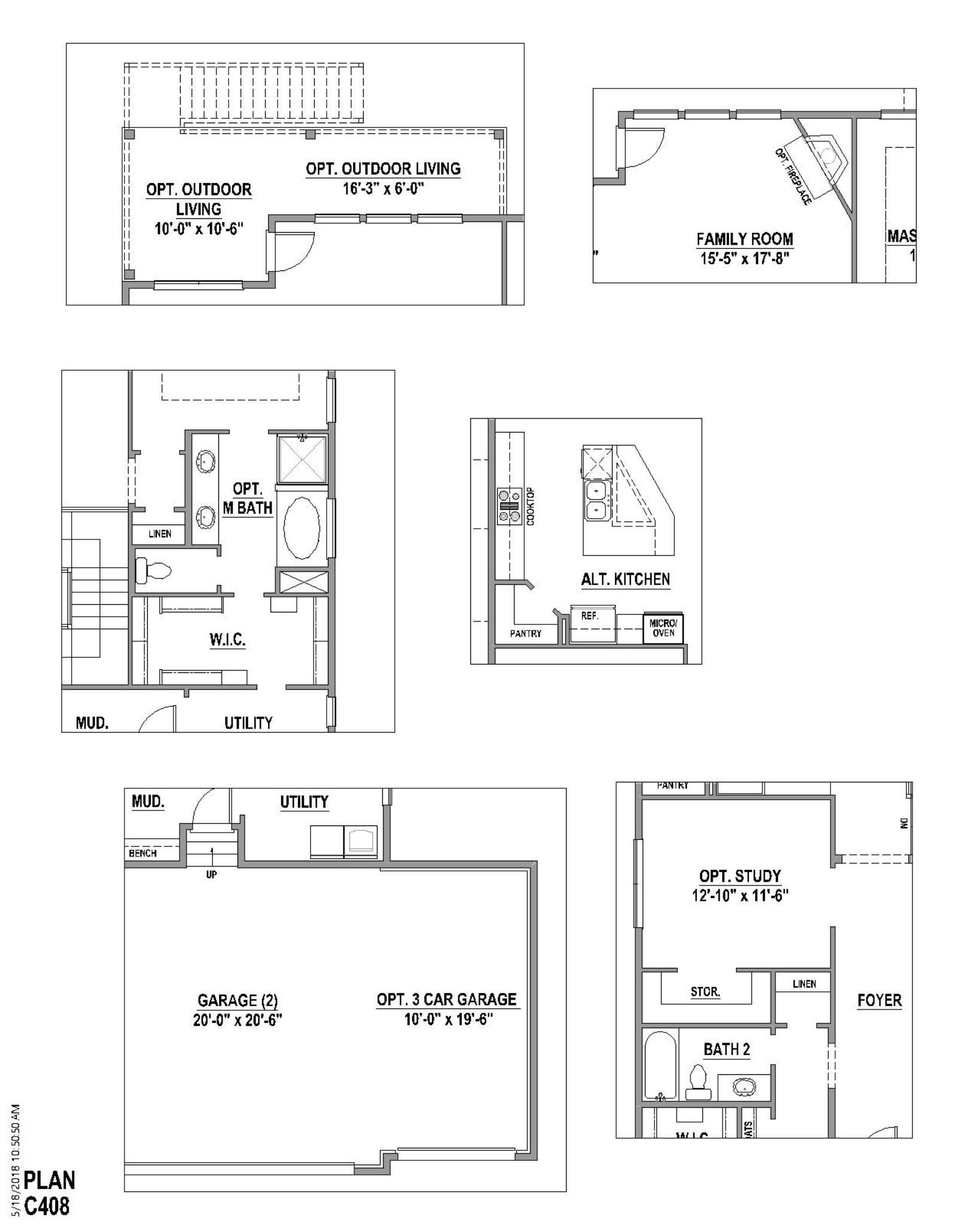 Plan C408 Floor Plan