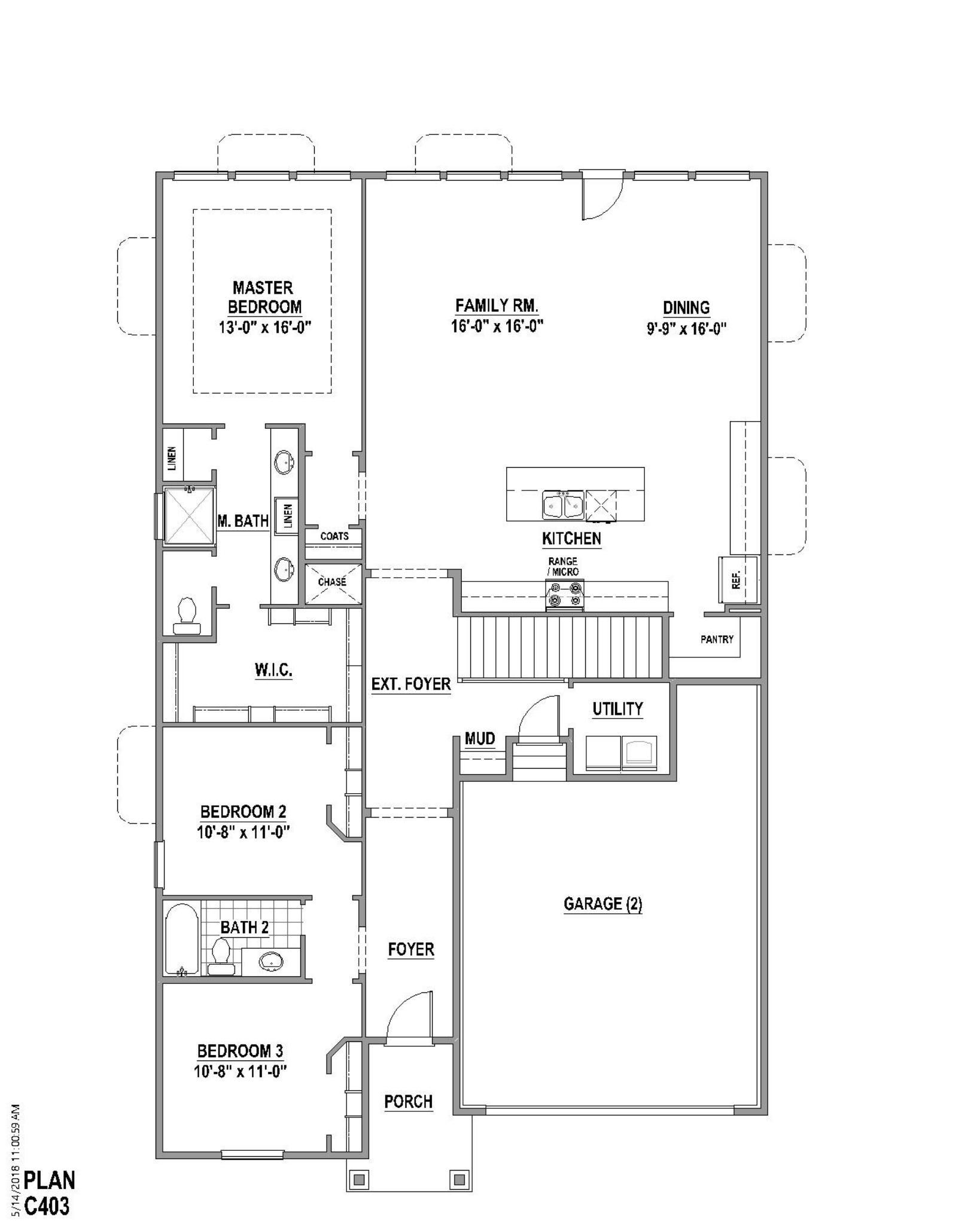 Plan C403 Floor Plan