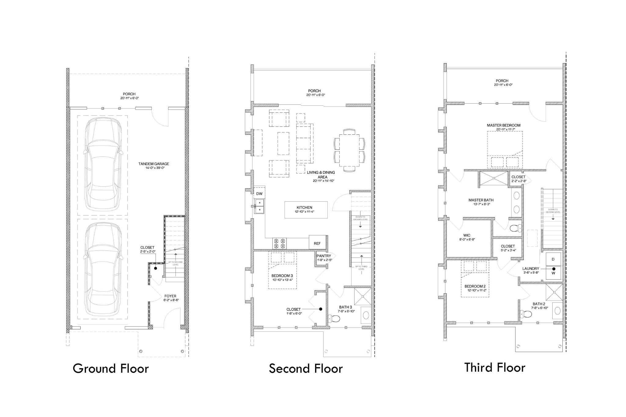 Chelsea Raised- 3 Bedroom Floor Plan