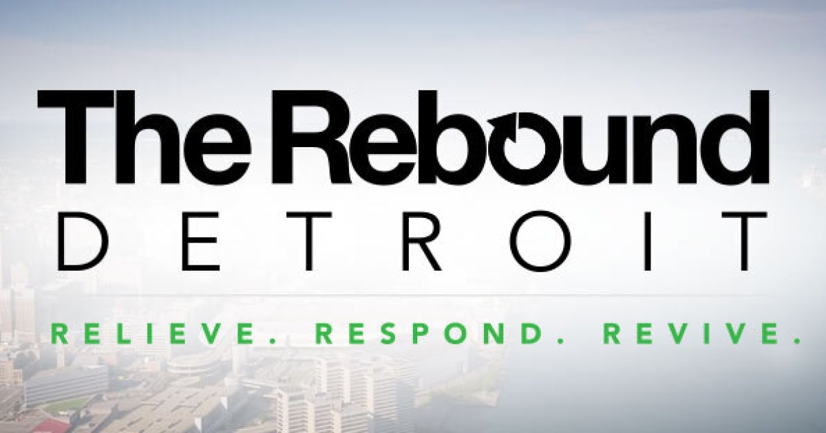 The Rebound Detroit logo, representing community development initiatives supported by Robertson Homes in Michigan