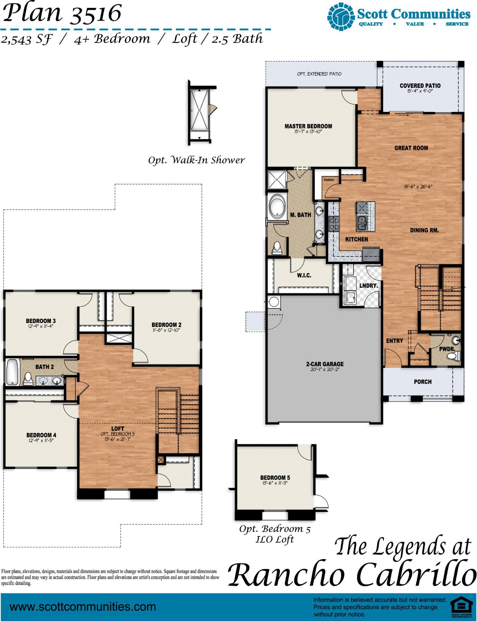 The 3516 Floor Plan Scott Communities