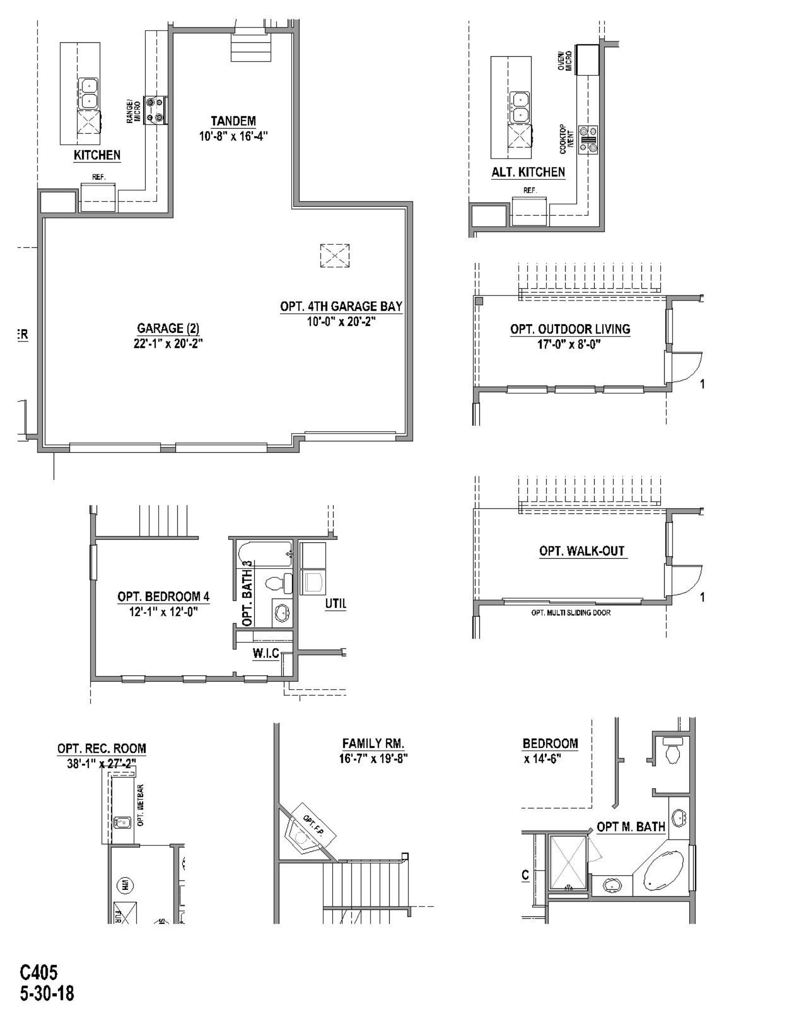 Plan C405 Floor Plan