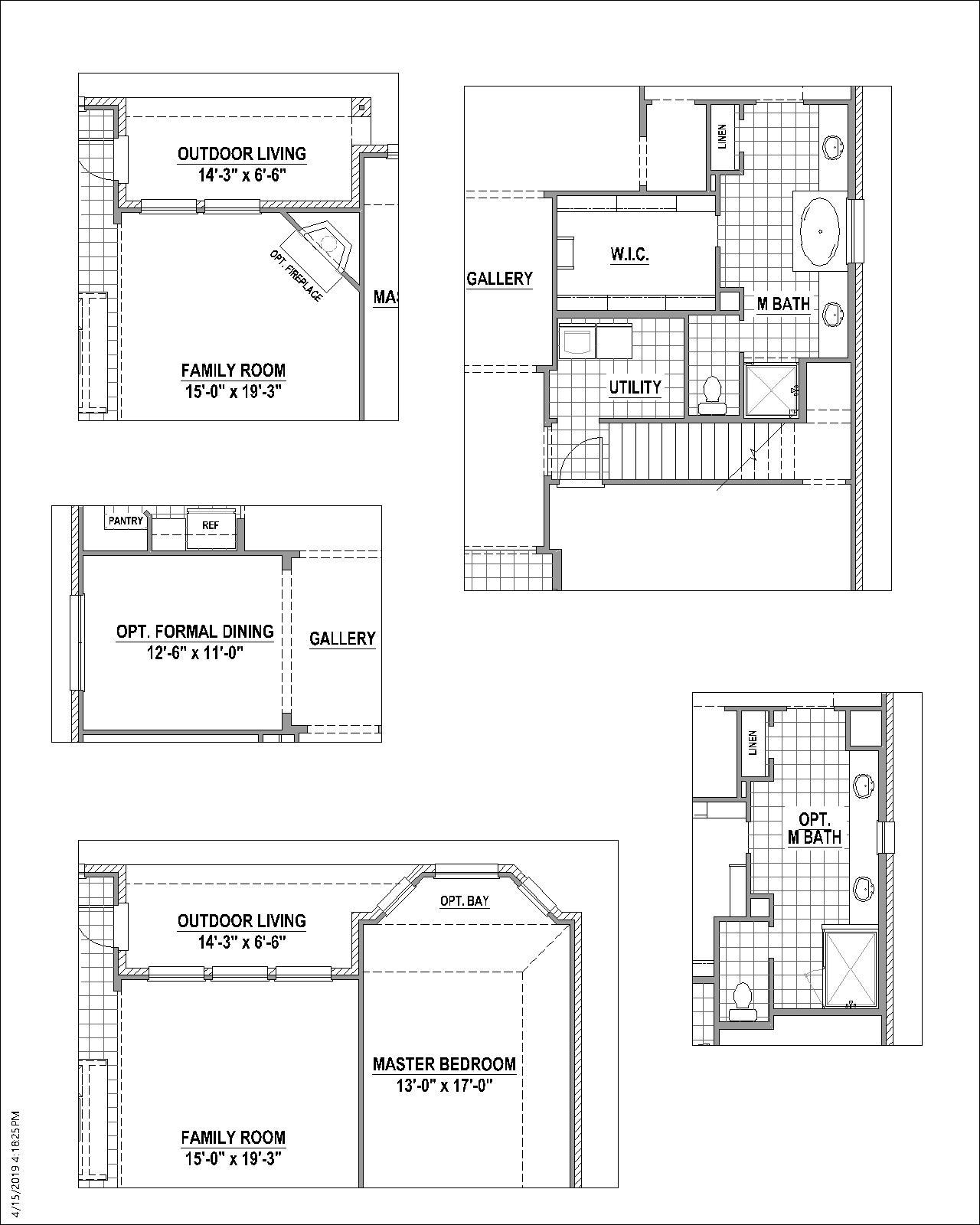 Plan 1521 Floor Plan American Legend Homes