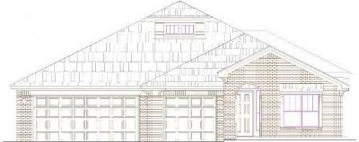 Kincaide elevation new home floor plan in oklahoma city