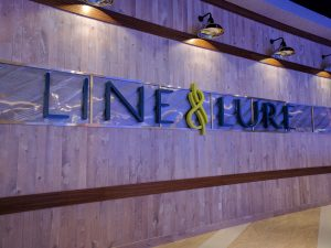 Line & Lure Seafood Kitchen and Tap Sign