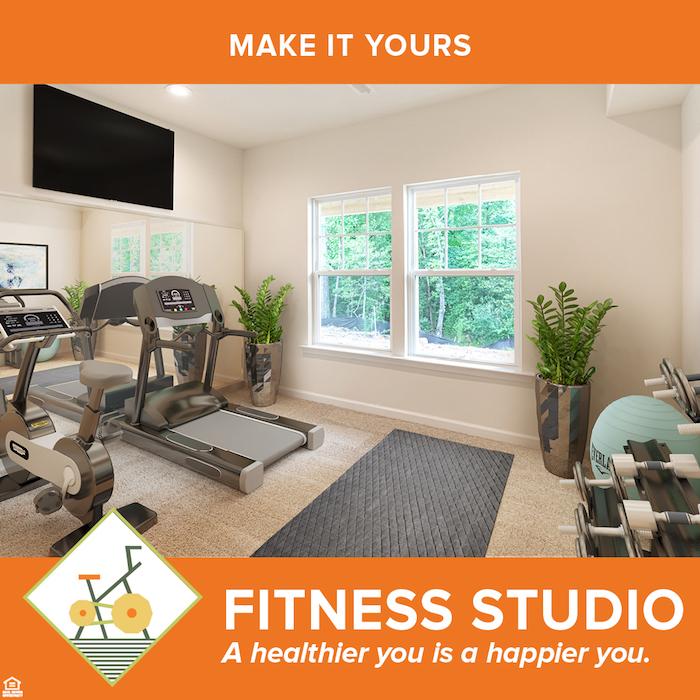 Fitness studio.