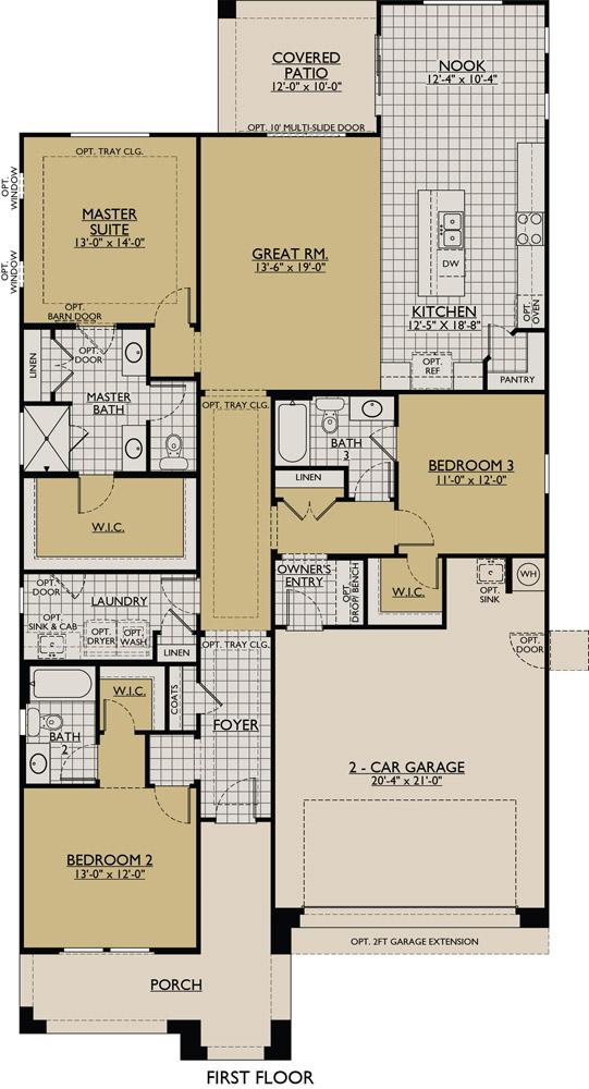 Jasmine Phoenix New Home Floor Plan William Ryan Homes