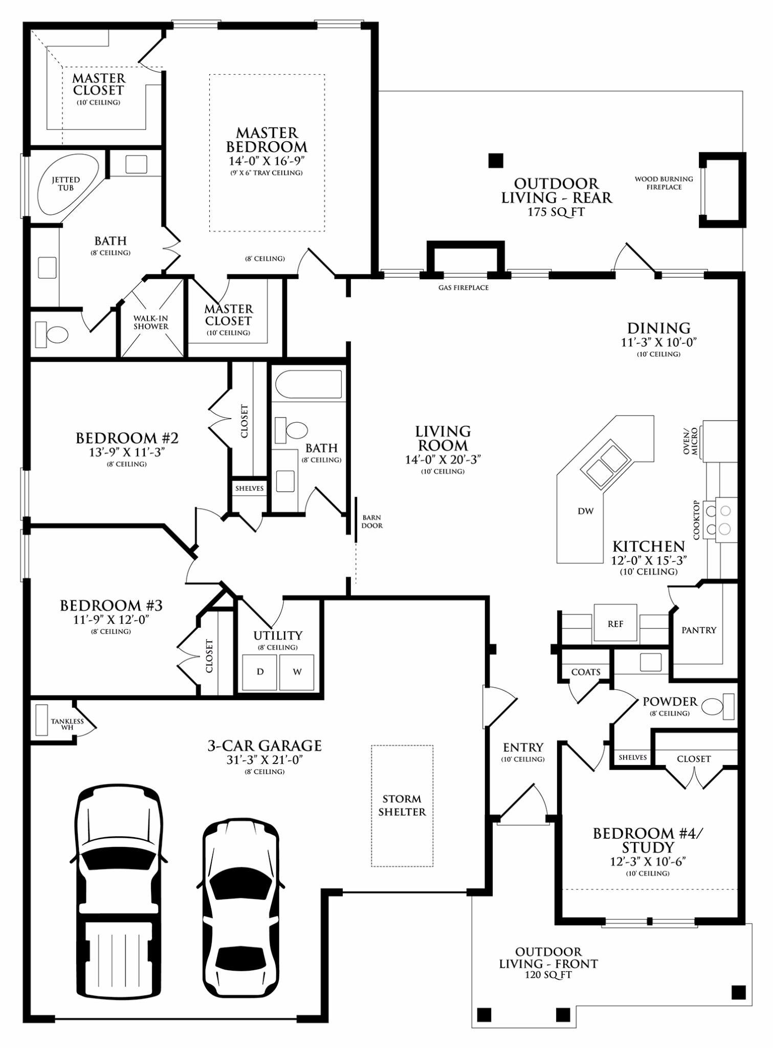 Shiloh Half Bath Floor Plan | Homes by Taber