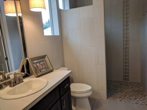 ADA Roll-In/Curbless Tile 3/4 Enclave in the Princess Suite of The Turtledove