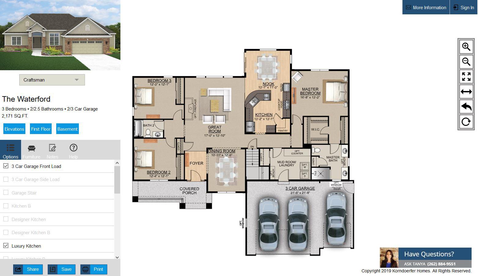 New Interactive Floor Plans