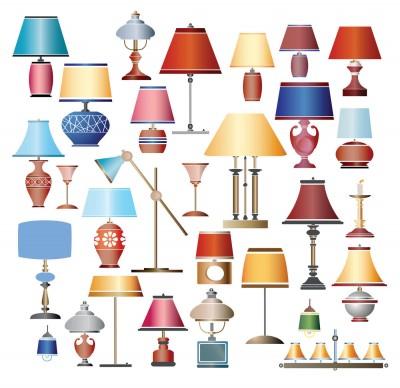 spring decor lampshades