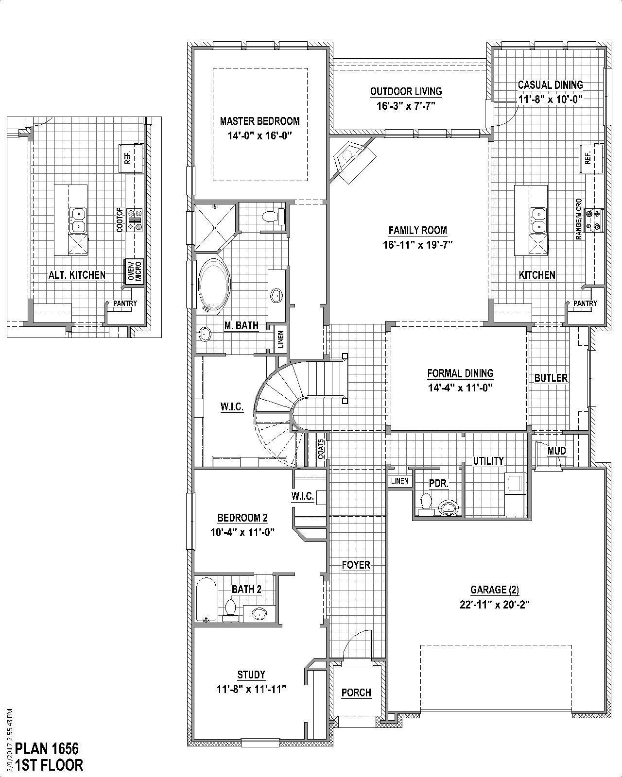 Plan 1656 Floor Plan