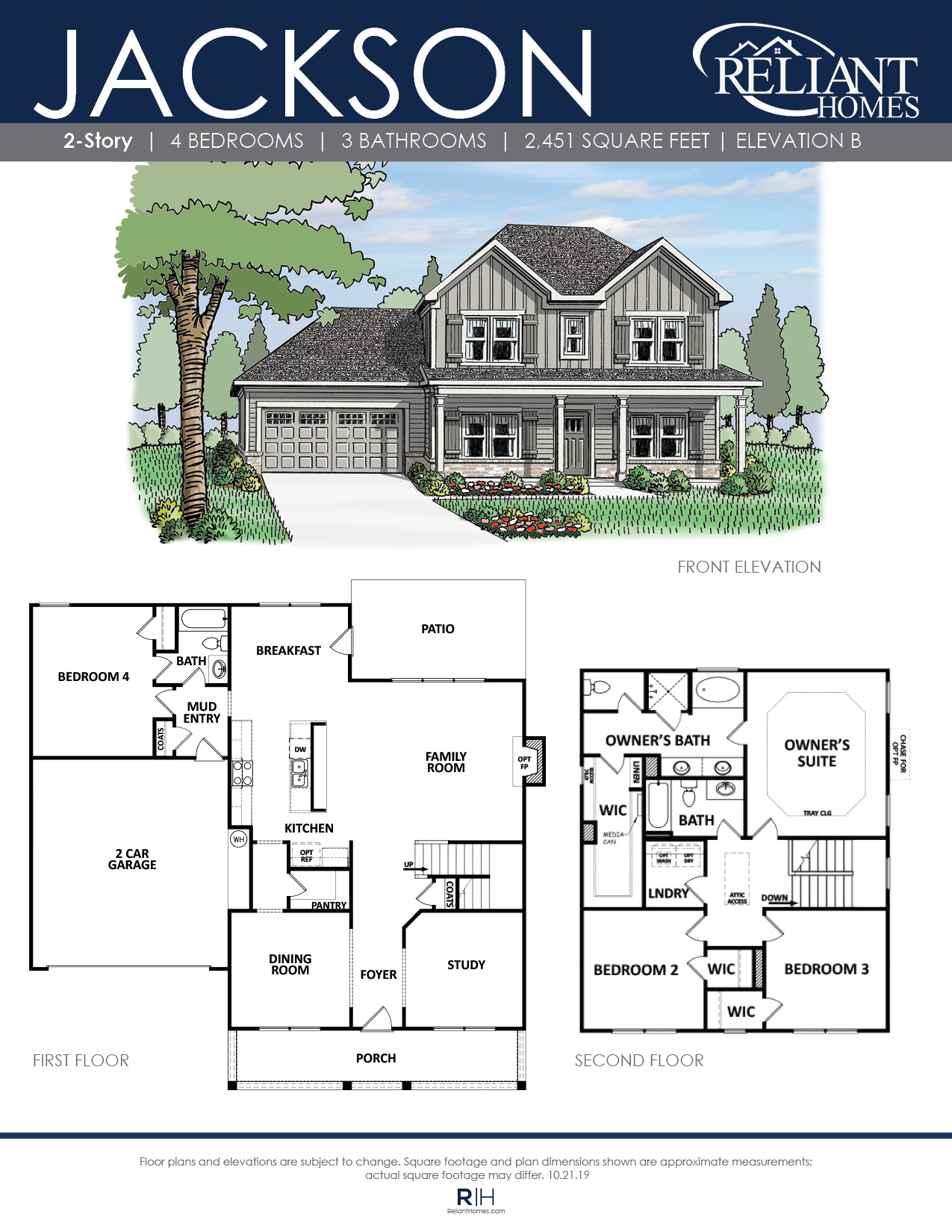 The Jackson   Front Entry Floor Plan   Reliant Homes on basic 4 bedroom house plans, 4 bedroom 4 bath house plans, two bedroom 2 bath house plans, bath house floor plans, florida 4 bedroom house plans, 4 br 3 bath house plans, 3 bedroom 1 bath plans, master bedroom addition floor home plans, 3 bedroom 2 story house plans, 4-bedroom family home plans, 3 bedroom 2 bath house plans, blueprint of a 4 bedroom 2 bath house plans, 3 bdrm house plans, new 4 bedroom home plans, sims 3 4 bedroom house plans, 7 bedroom 3 bath house plans, 3 br 2 bath house plans, two bed two bath house plans, 4 bedroom 4 bathroom house,