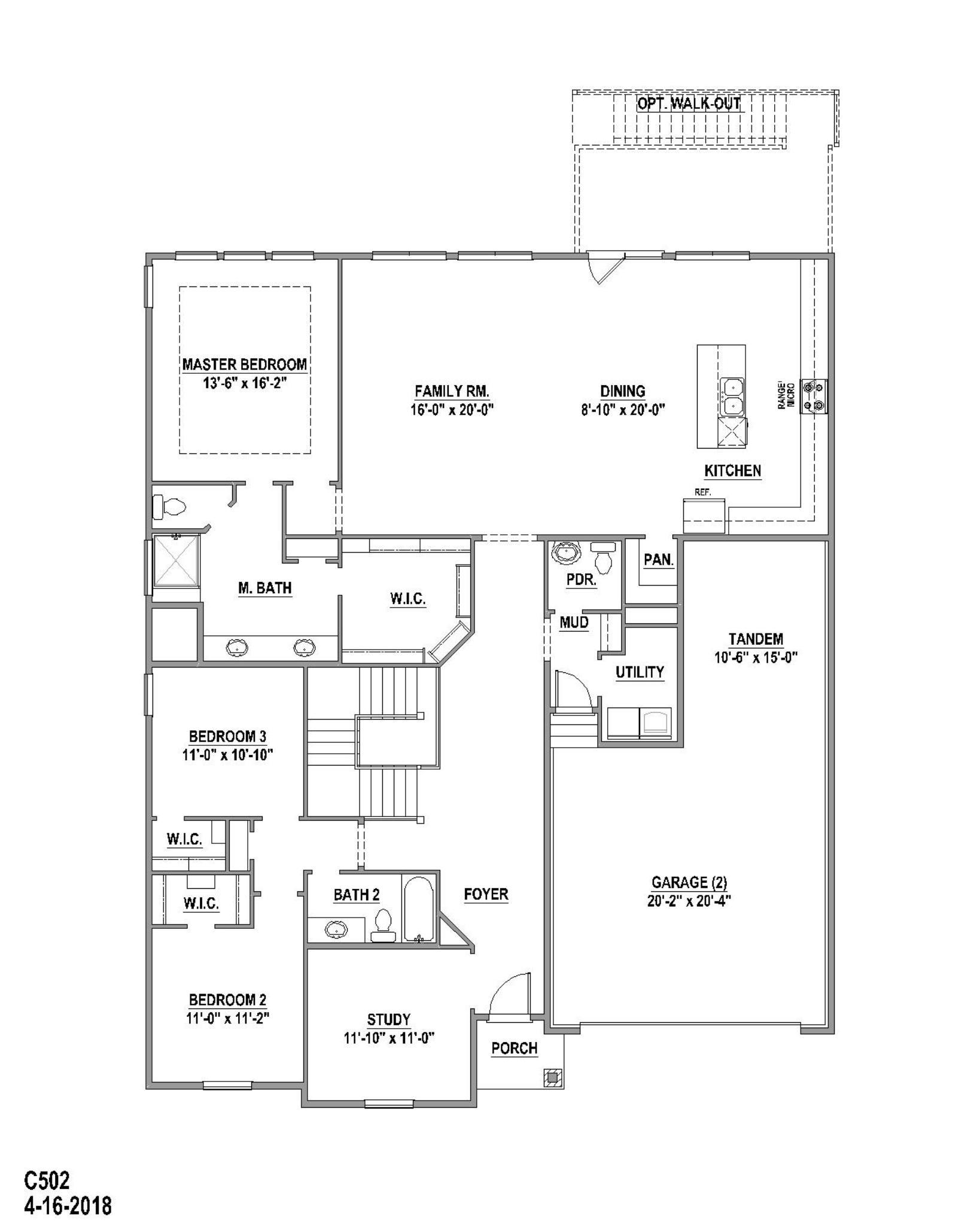 Plan C502 Floor Plan