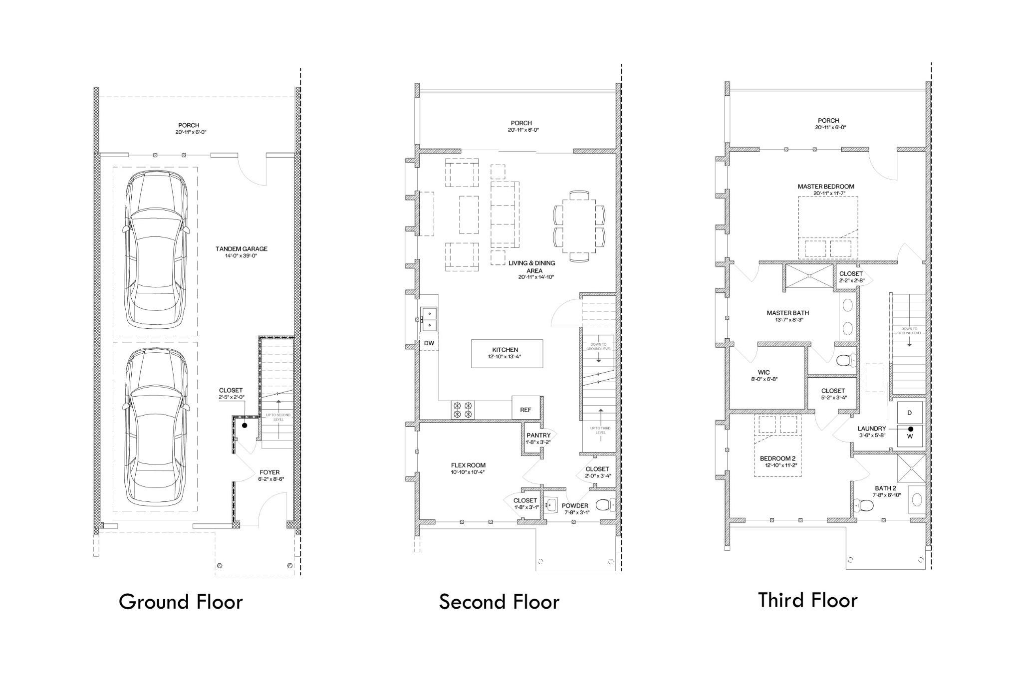 Chelsea Raised- 2 Bedroom Floor Plan