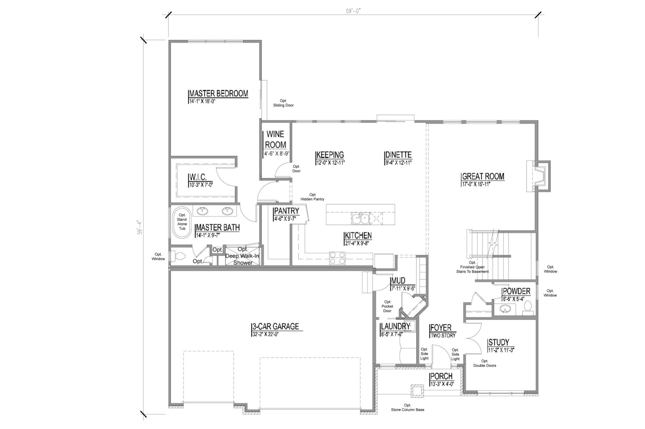 The Camden Floor Plans Djk Custom Homes