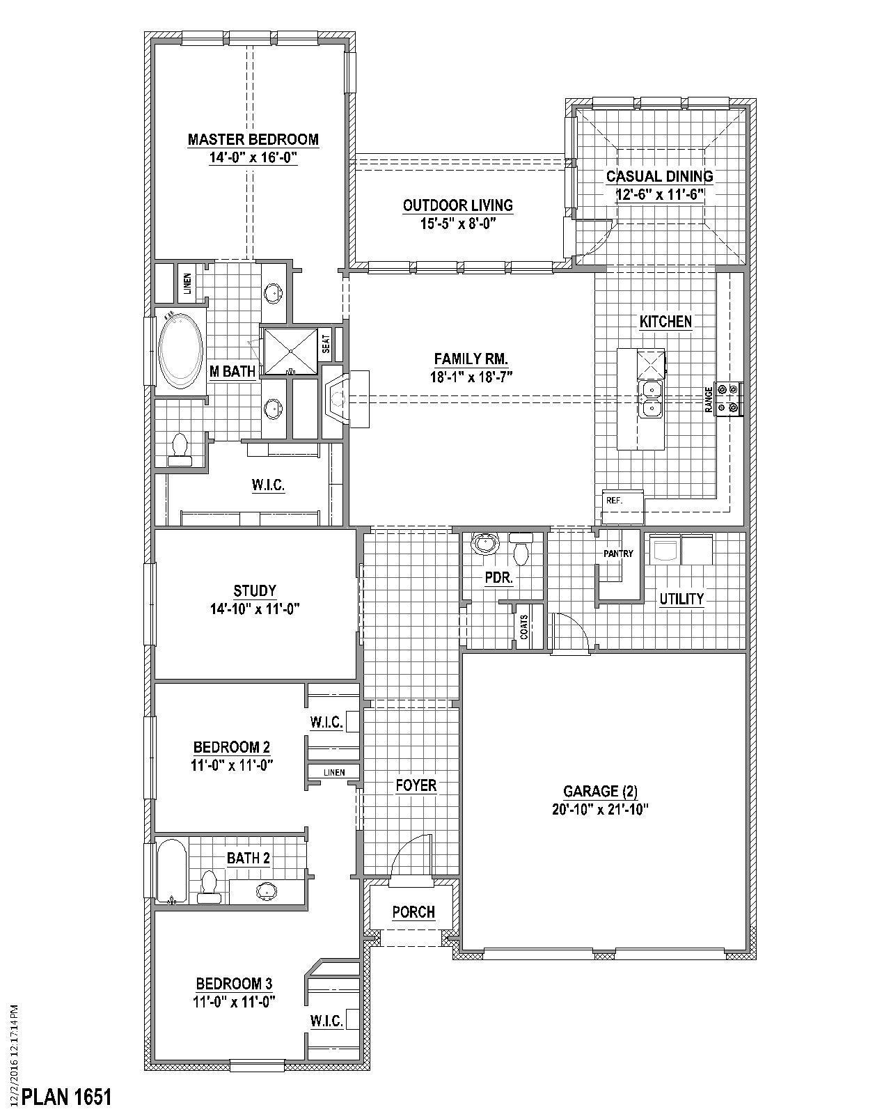 Plan 1651 Floor Plan American Legend Homes