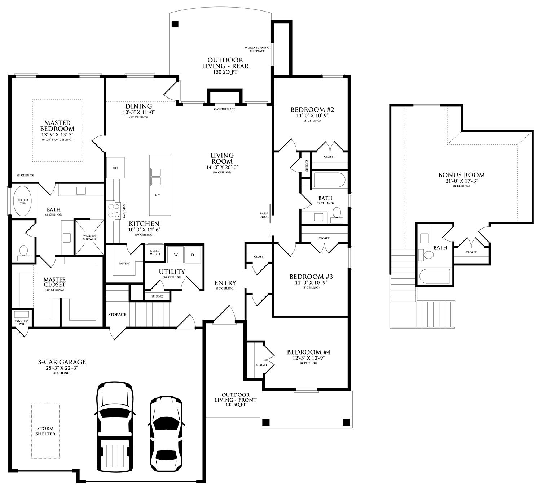 blue spruce bonus room 2 floor plan homes by taber