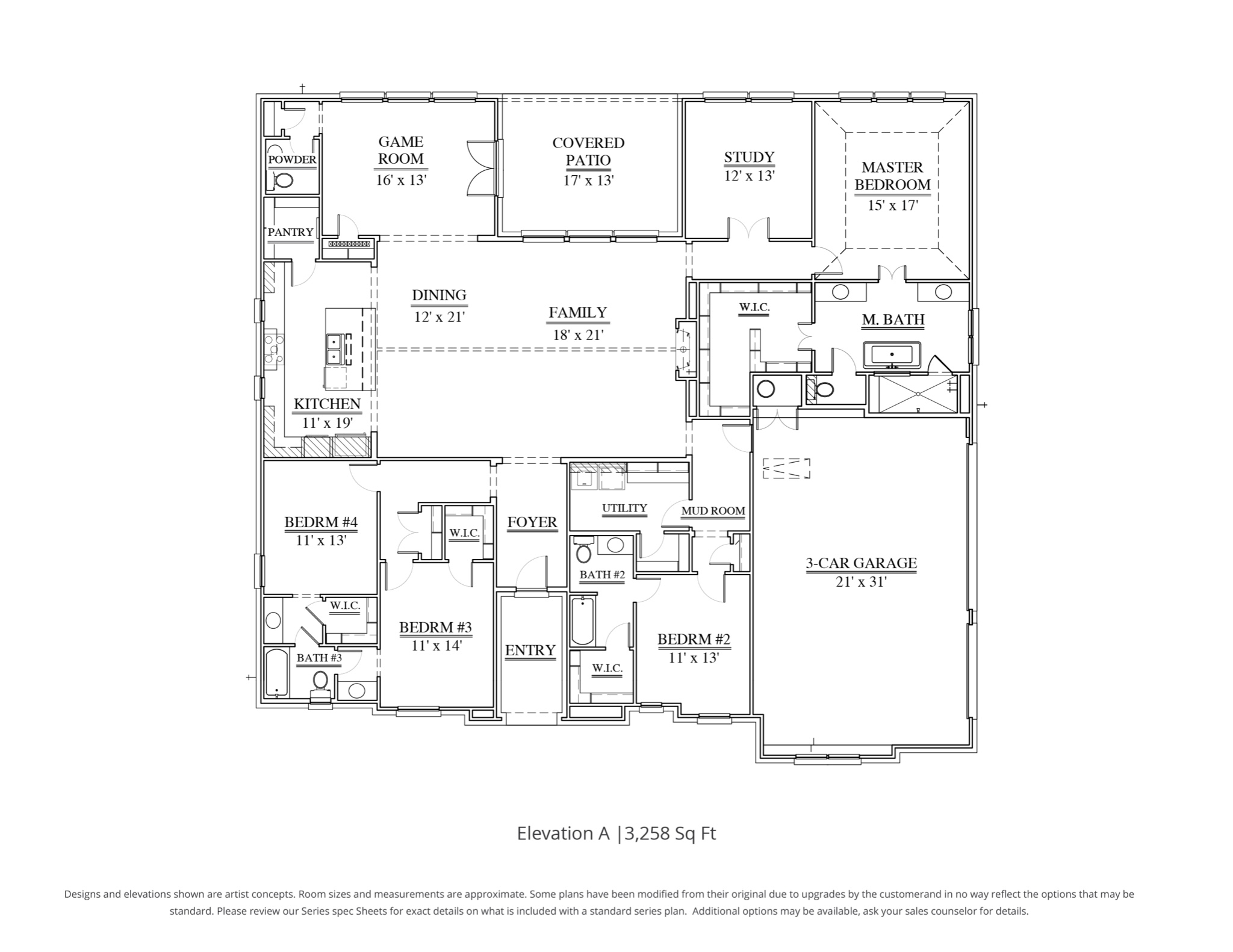 Connor Floor Plan In Dfw Our Country Homes