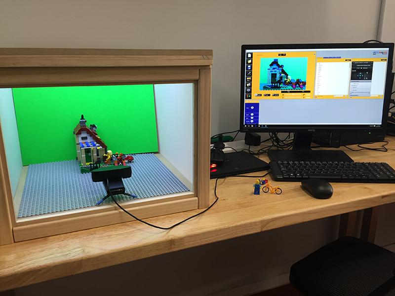 Stop Motion Setup at Building Block Studio