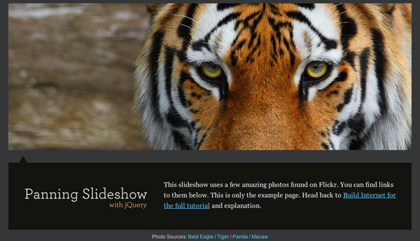 Animate Panning Slideshow with jQuery « Build Internet