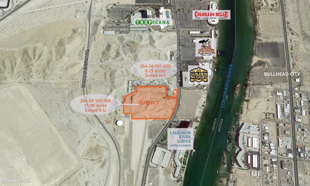 <div>12.21 acres on Casino Drive & Sundance Shores</div><div>Laughlin, NV 89029</div>