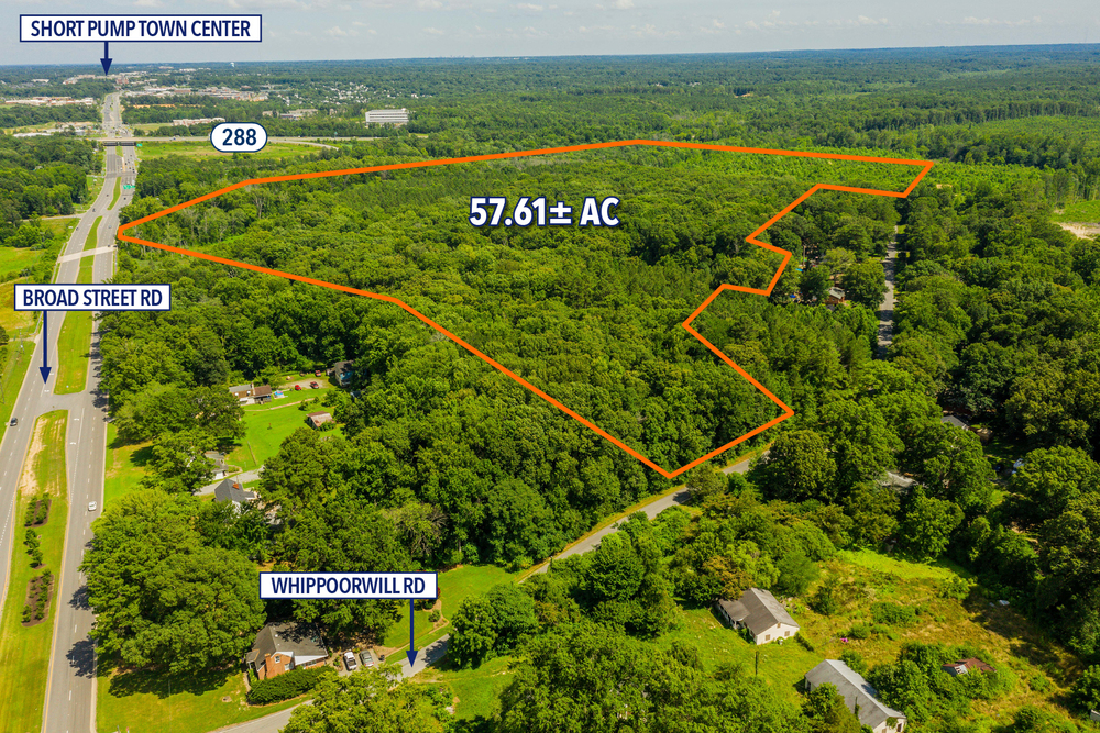 Accelerated Sale | 57.61 ± Acres | Prime Development Land Off Broad Street Road | Goochland County
