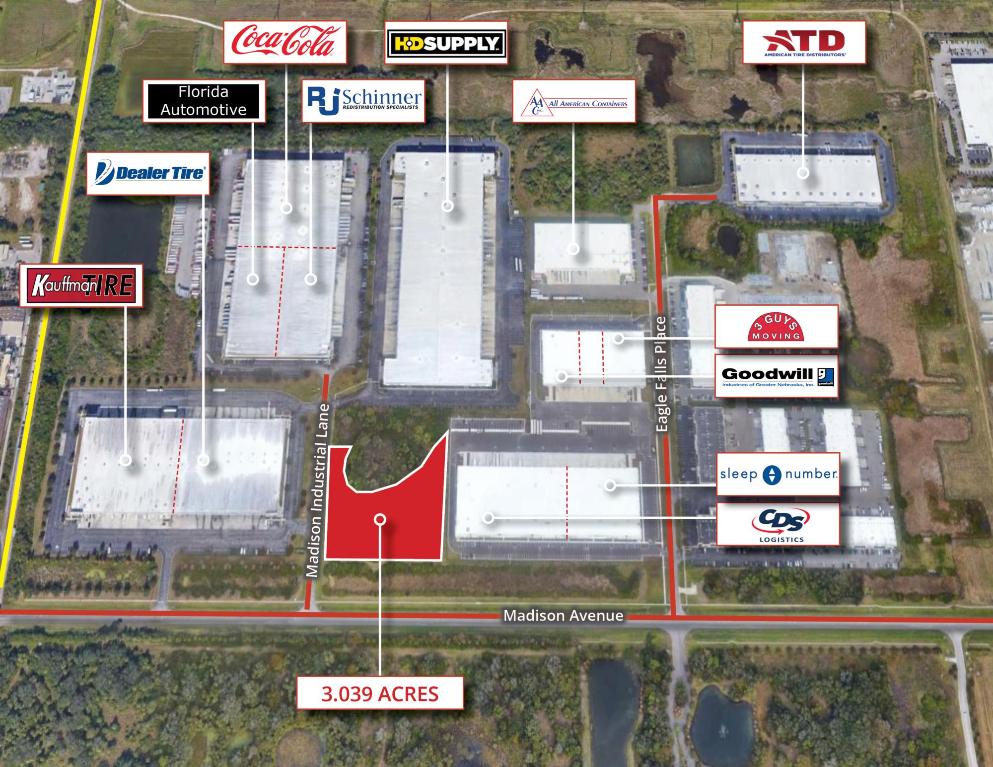 Madison Industrial Park - Land<br/><div>Madison Avenue</div><div>Tampa, FL 33619</div>