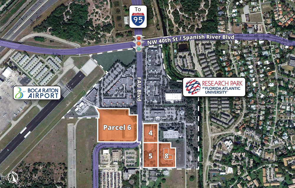 Research Park at FAU Parcels for Ground Lease<br/><div>Research Park at Florida Atlantic University, Boca Raton, FL</div><div>Boca Raton, FL 33431</div>