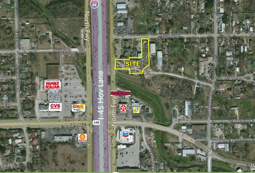 +/- 1.5 acres of North Freeway/I-45 Frontage