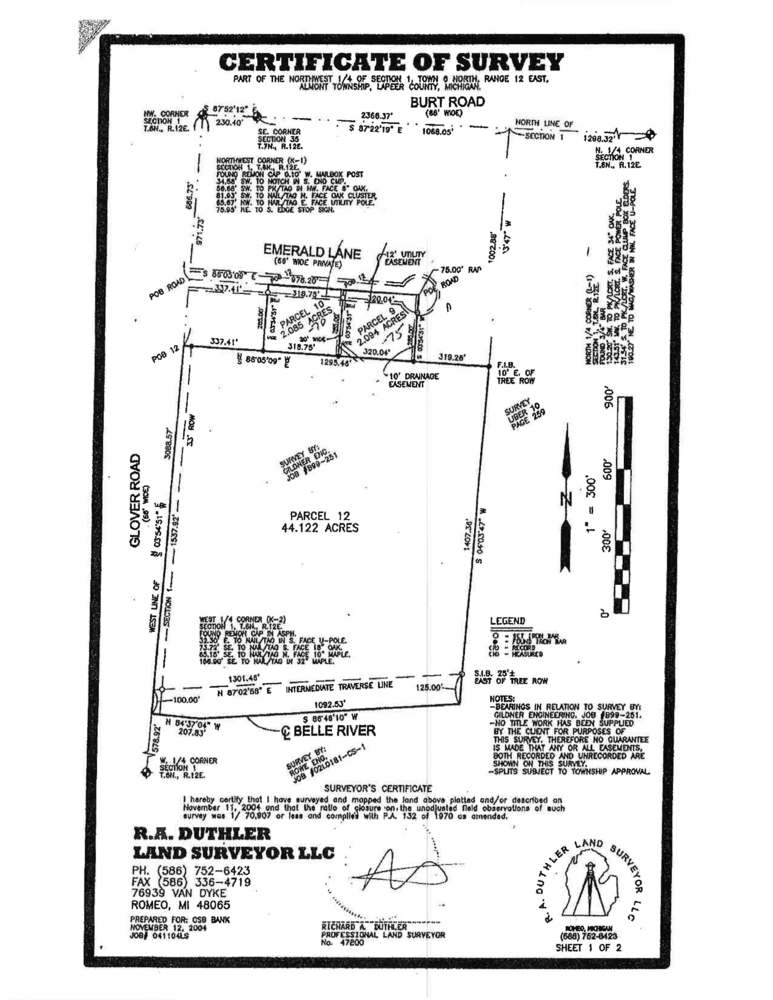 Two 2.0 Acre Vacant Lots For Sale