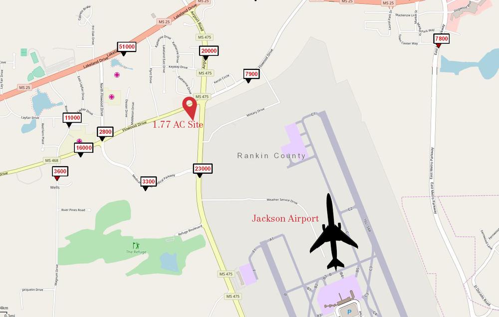 Flowood Drive & Airport Road 1.77 AC Site