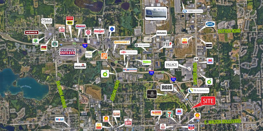 7.59 Acres Lapeer Road & I-75