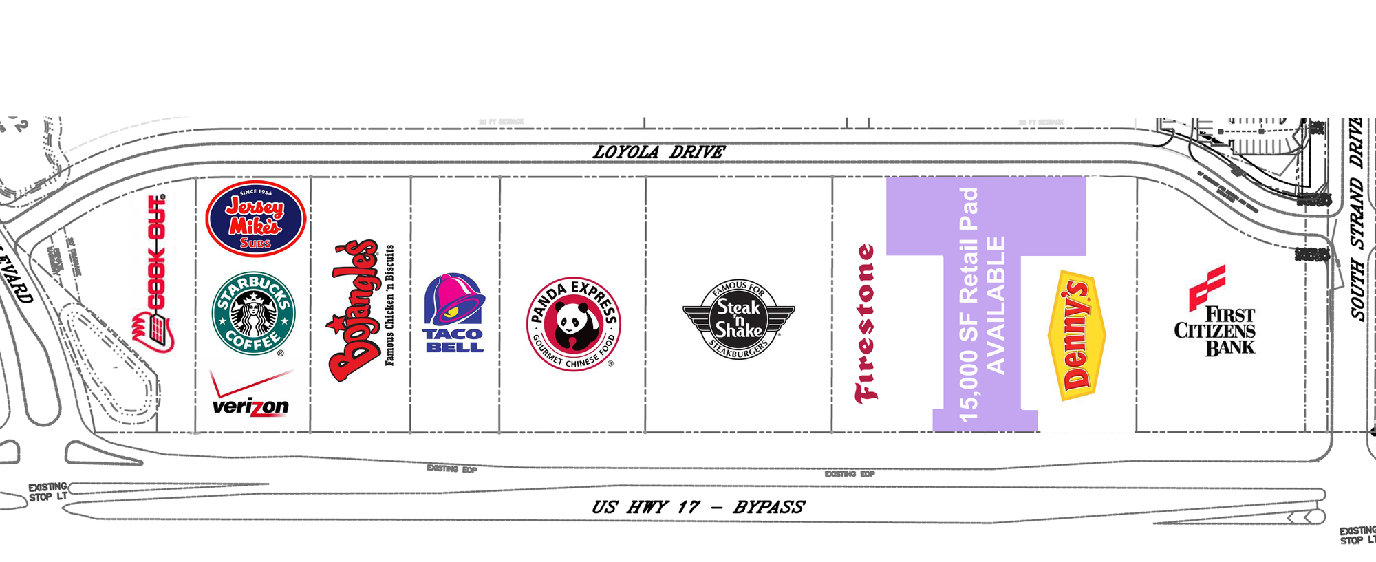 SC Myrtle Beach – Commercial Hotspot Pad Ready Site