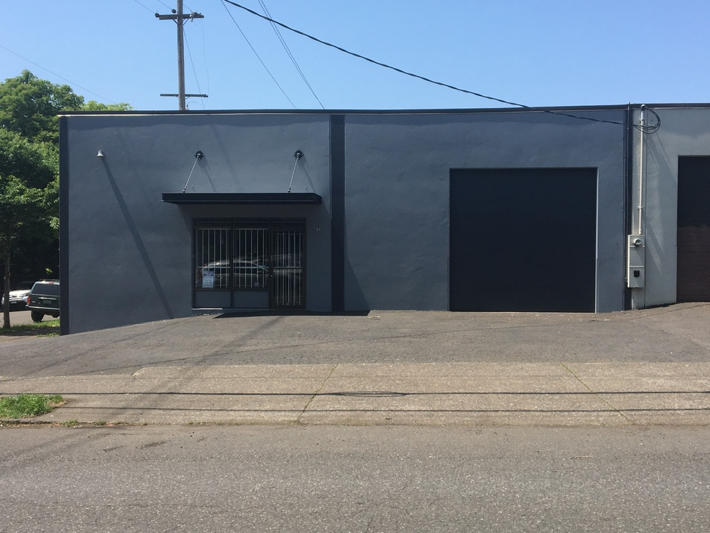 Close in warehouse with parking