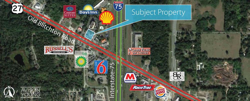 Highway 27 Redevelopment Opportunity Near I-75<br/><div>3901 NW Blitchton Road</div><div>Ocala, FL 34475</div>
