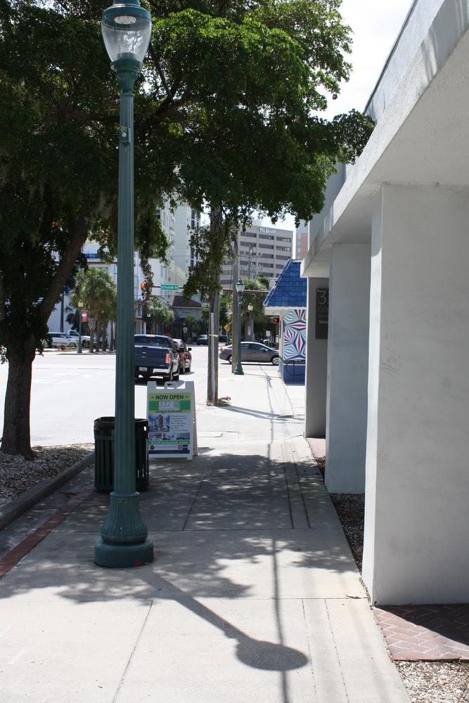 Sidewalk View Looking South